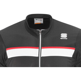 Sportful Pista Longsleeve Jersey Heren, black/white-red
